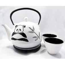 4 piece Cast Iron Tea Set - Panda